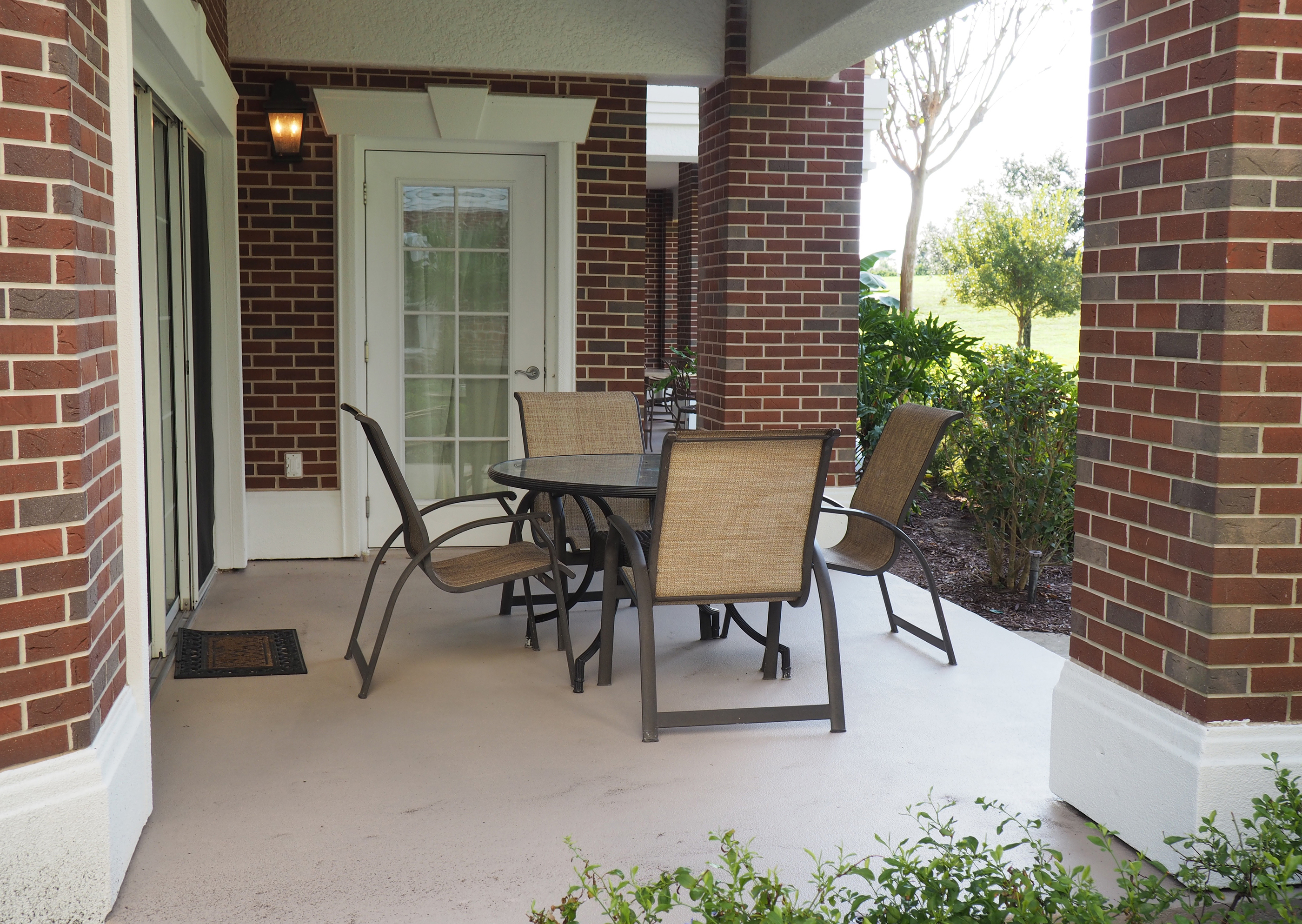 concrete porch