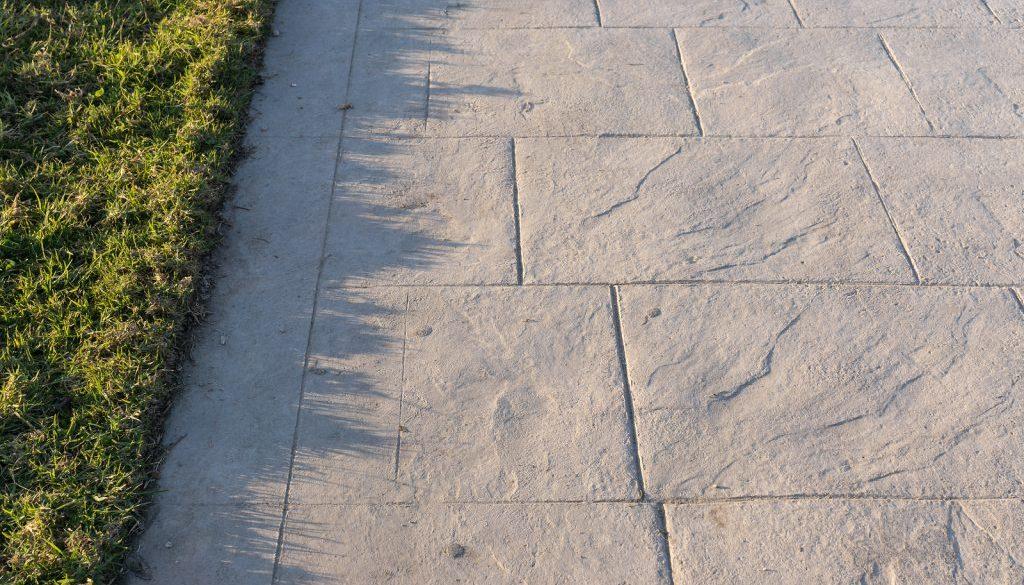 Stamped concrete pavement