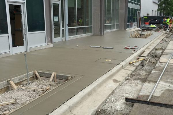 new sidewalk concrete install chicago il