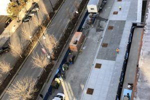 new sidewalk for McDonalds headquarters