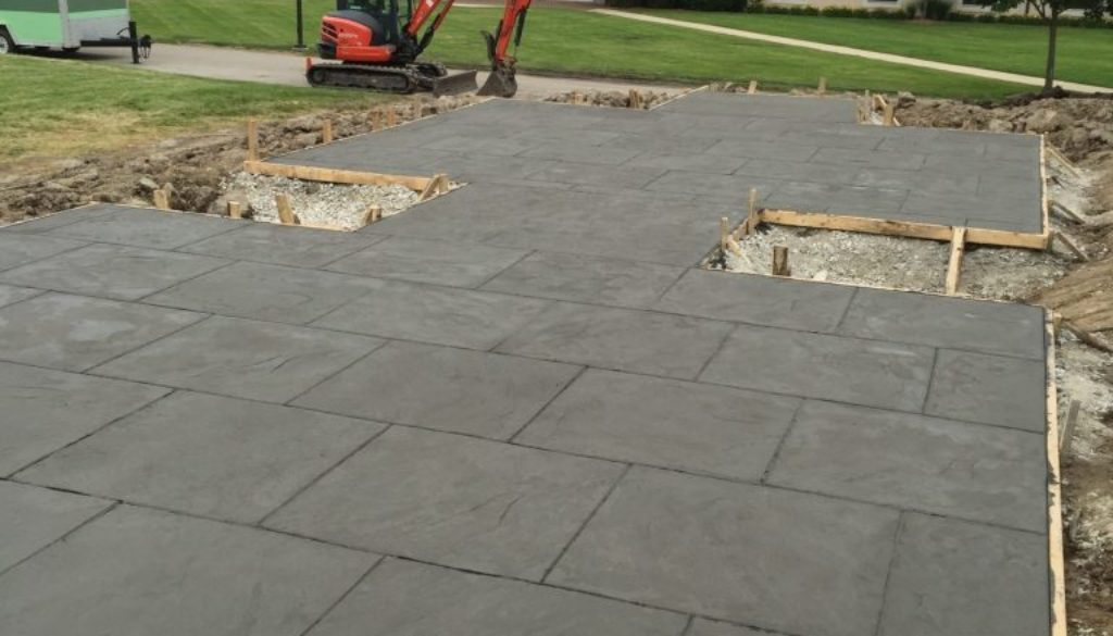stamped concrete patio install