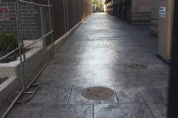stamped concrete sidewalk chicago
